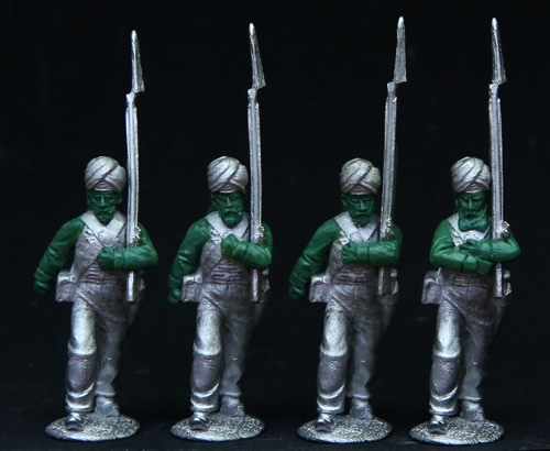 "Sikh Infantry in ""Muslim"" turban"