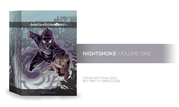 NIGHTSMOKE: Volume One cover design
