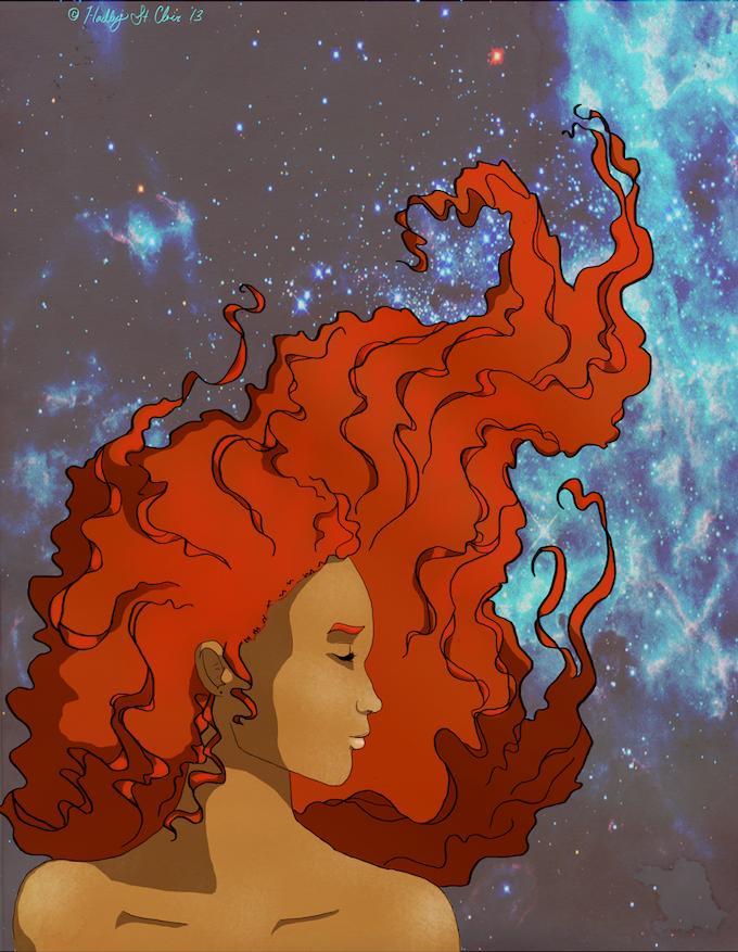 Imogen Galaxy Print by Hadley St. Clair