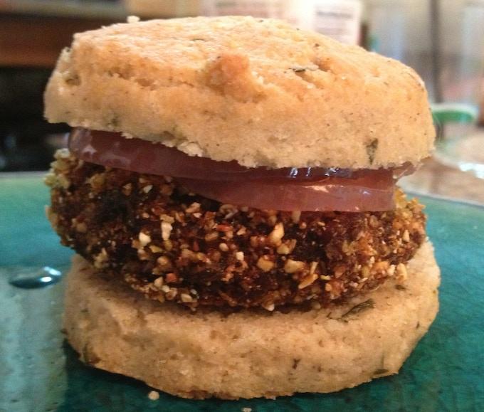 Gluten Free Pinto Bean Biscuit Sandwich