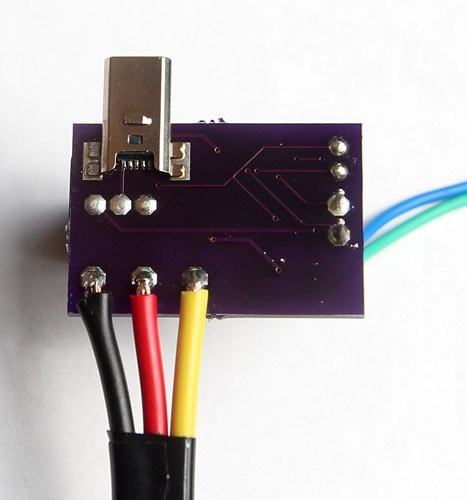 The power supply plugs right into your Raspberry Pi