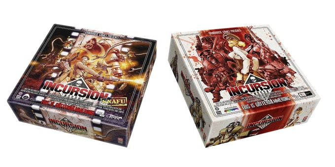 SNAFU expansion and INCURSION boxed game