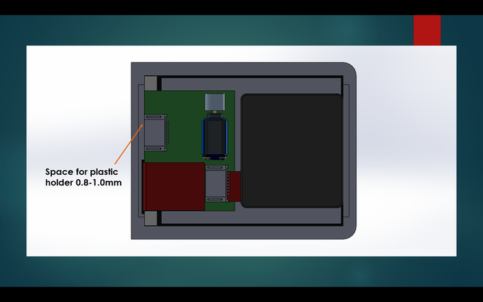 3D Concept showing the position of internal components