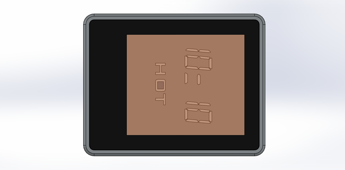 Concept showing the display positioning