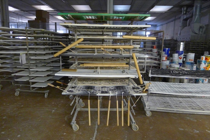 Camerino parts drying in the factory