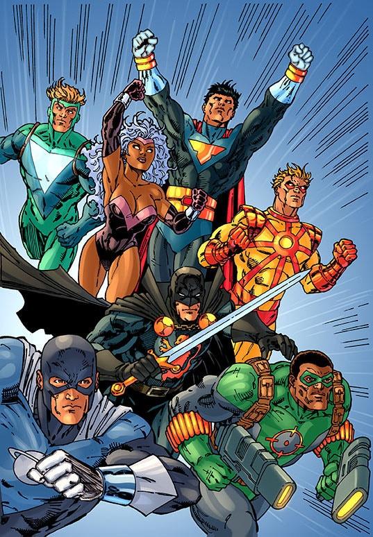 COLOR PRINT E(Justice League #1 Homage)