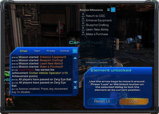 Almost every UI element in the game can be unlocked and moved to a new position.