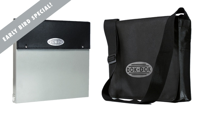 £80 pledge - Early bird special - DOK-DOK document scanner and case in SILVER GRAY finish plus the limited edition messenger bag at a huge saving. Add £15 to ship outside the UK.