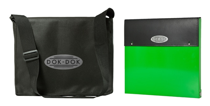 £95 pledge - DOK-DOK document scanner and case in KICKSTARTER GREEN finish plus the limited edition messenger bag at a great saving. Add £15 to ship outside the UK.