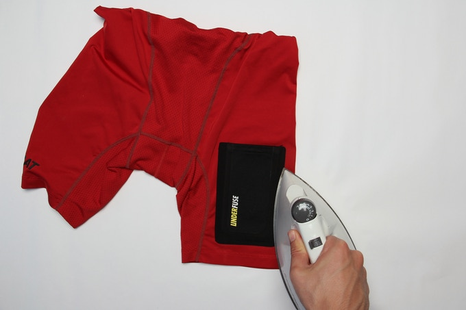Attaching with a household iron
