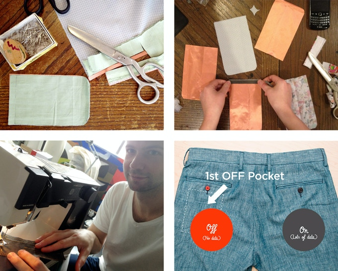 Creating the first OFF Pocket in 2011, as a pair of pants.