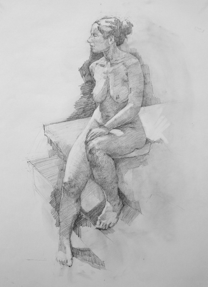 """Mary"", Graphite, 18 x 23.5 inches"