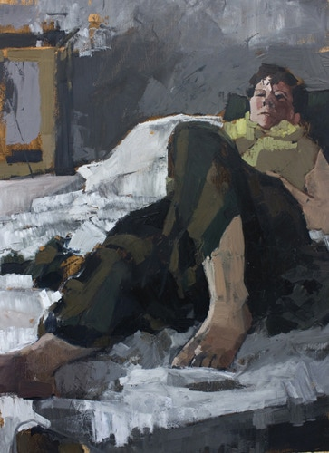 """Reclining Figure"", Oil, 27.5 x 20 inches"