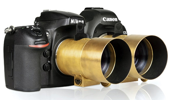 The Lomography Petzval Lens attached to Digital Canon and Nikon SLRs