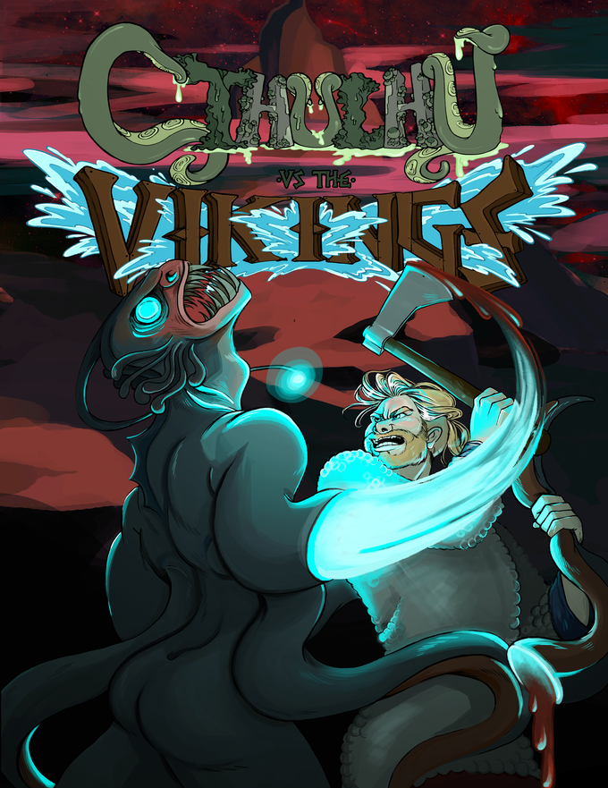 Cover -- Cthulhu Vs. The Vikings, Issue #1