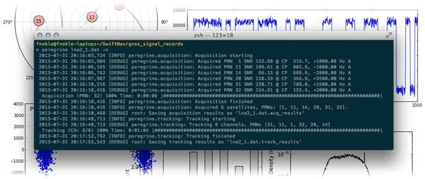 Screenshot of Peregrine - Swift Navigation's GPS post-processing software.