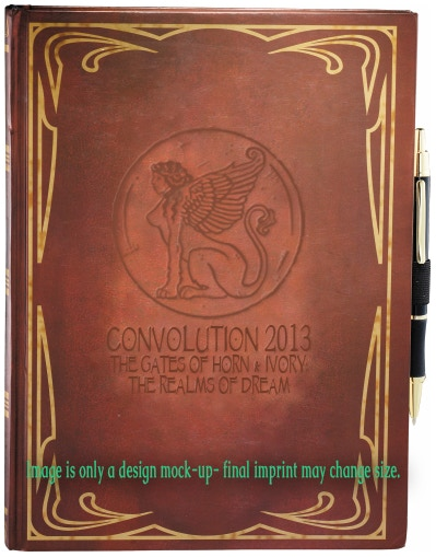 Our classic and stylish new Dream Journal, with our Sphinx coin logo embossed on the front