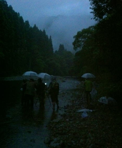Filming at Night in Kyushu, as a Typhoon Approaches...