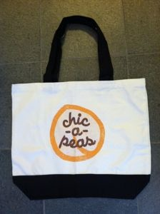 chic-a-peas tote bag: perfect for carrying your chic-a-peas