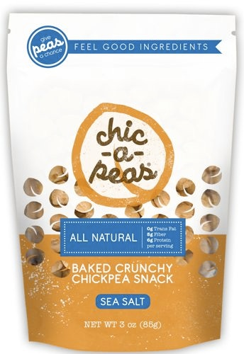 Our awesome sea salt chic-a-peas package (front).