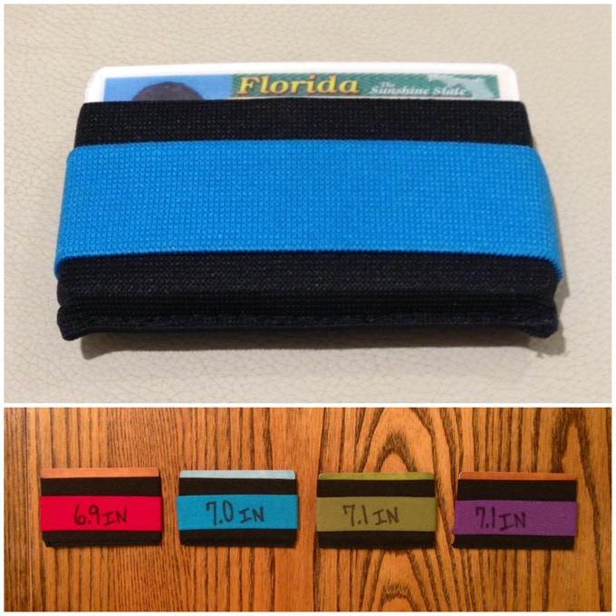 Prototype 2 - Here's the wallet I tested out for several weeks in multiple colors.
