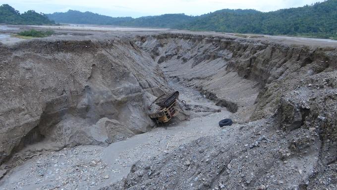 Near the old, polluting Rio Tinto mine in Bougainville, Papua New Guinea