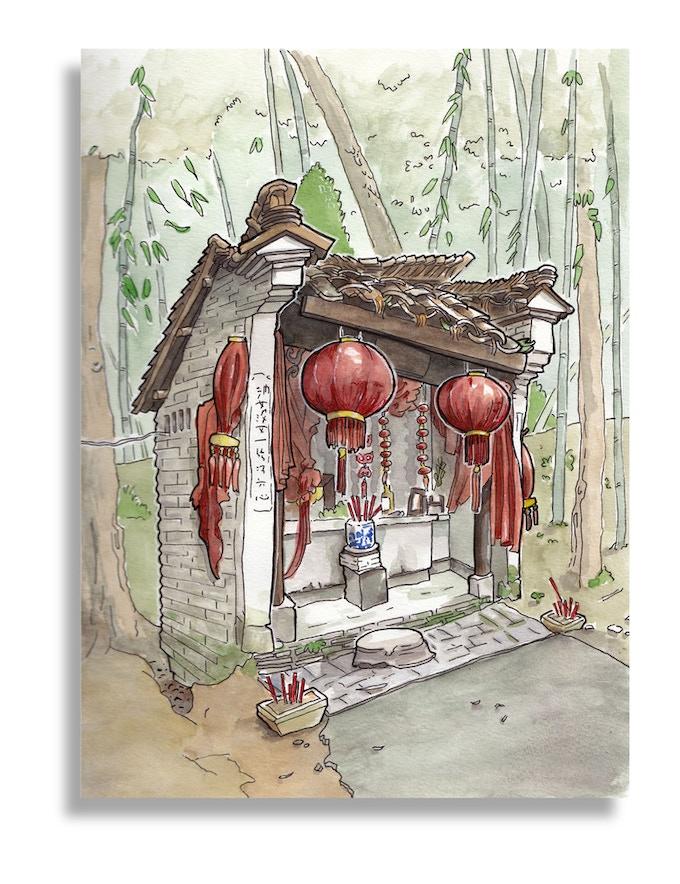 Temple, Jingdezhen, China