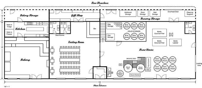 The revised bulkhead brewing page by gregg hinlicky for Brewery floor plan