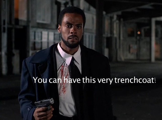 Get The Trenchcoat off of E-bone's back!