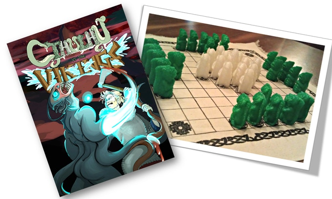 The $35 level includes a basic (unpainted) version of the game and a copy of the comic + 2D Print and Play