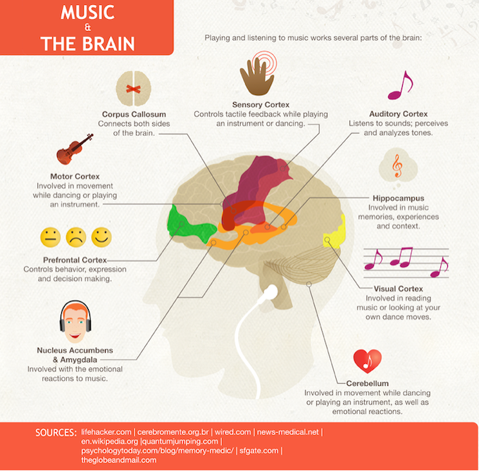 """Music has a """"metaplastic"""" affect on the brain, enhancing many other abilities beyond music."""