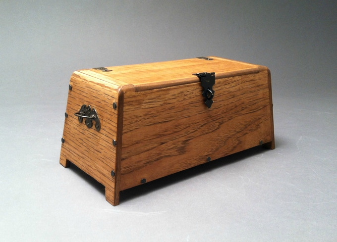 Another view of the chest with the lid closed