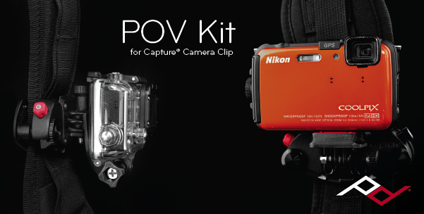 POV Kit (formerly called the GoPro Mount) lets you mount GoPro and point-and-shoot cameras on Capture to take POV video.