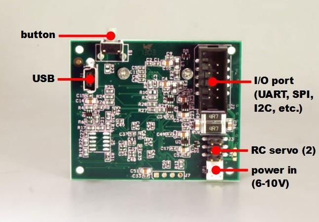 Pixy's ports (back of Pixy)