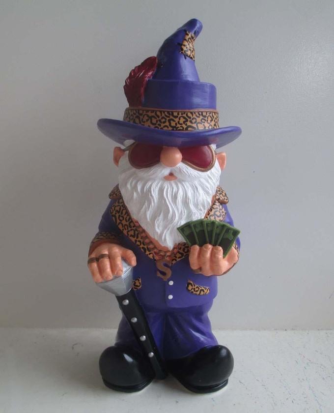 Prototype - Purple Pimp Gnome (front)