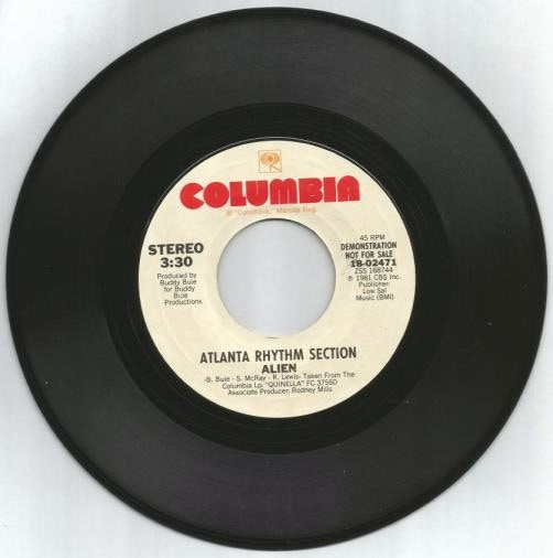 """Alien"" the hit 45 Single - by the Atlanta Rhythm Section"