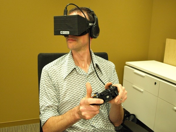Here's a guy who is being reserved about his feelings for the Oculus Rift. Honestly, it could go either way.