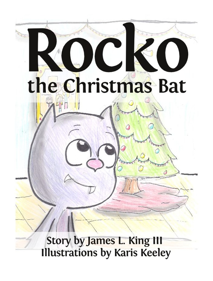The front cover of Rocko, the Christmas Bat