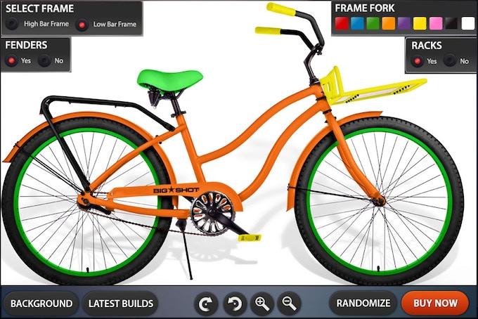 Customization Tool GUI Design Low Bar Bike