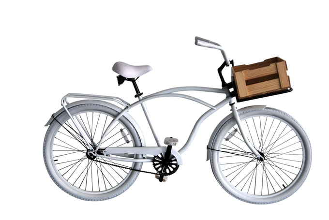 Wood Crate with the bike