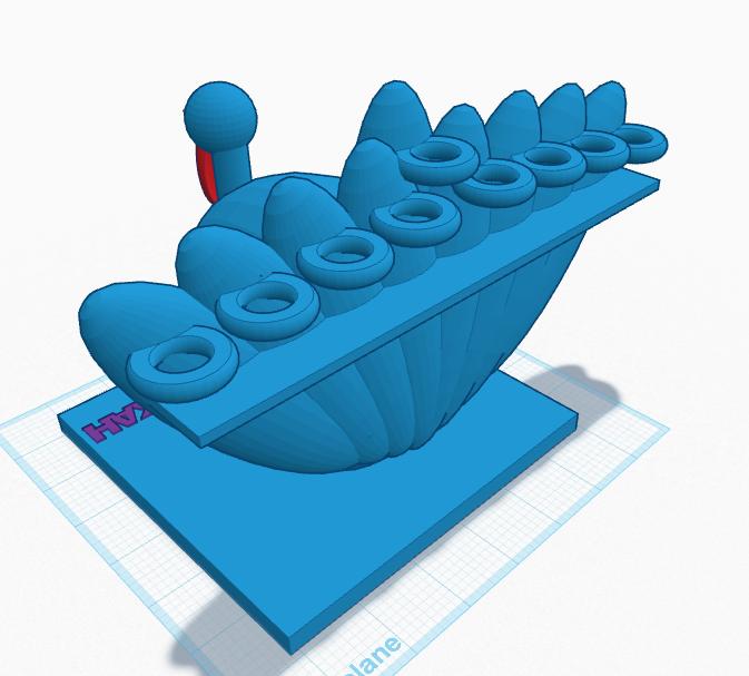 3D CAD sketch, prototype (Rear)