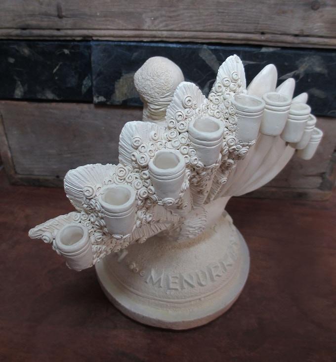 Menurkey Ceramic/Plaster Prototype 3 (Rear)