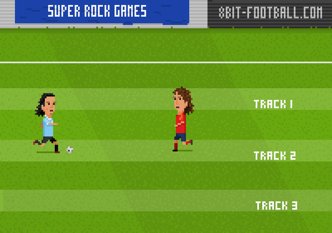 tracks on the pitch that defenders can use