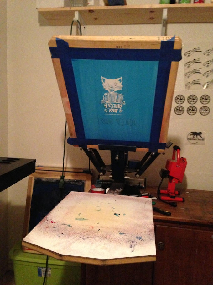Making T-Shirts with Crooked Arm Printing