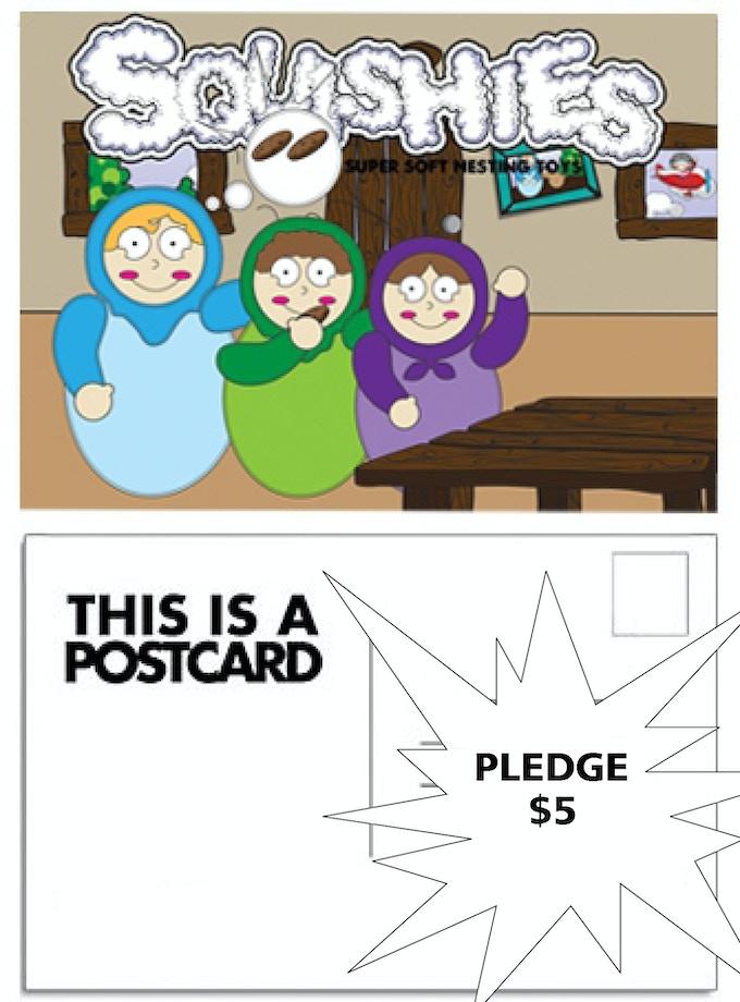 vinyl sticker postcard