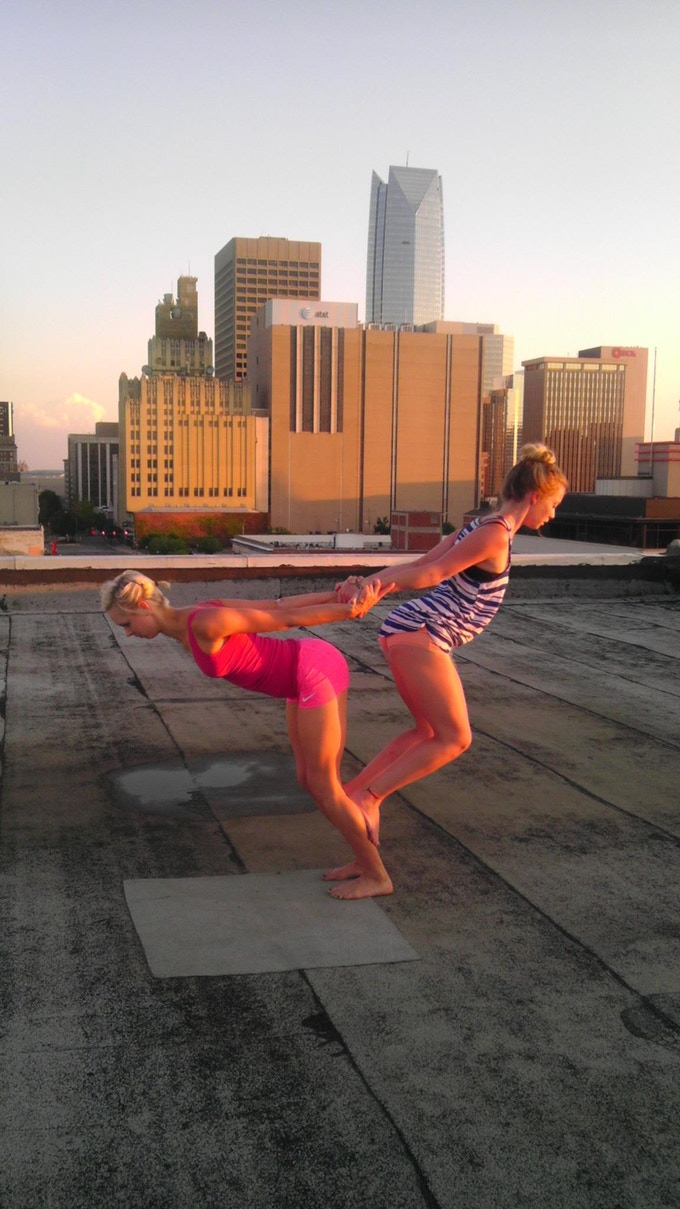 Roof top rehearsal!