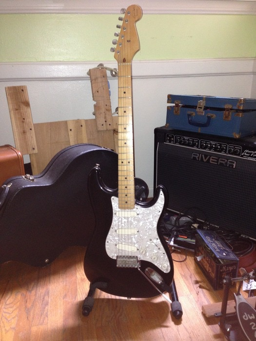 """Eric Clapton """"Blackie"""" Stratocaster to be signed by everyone on the album."""