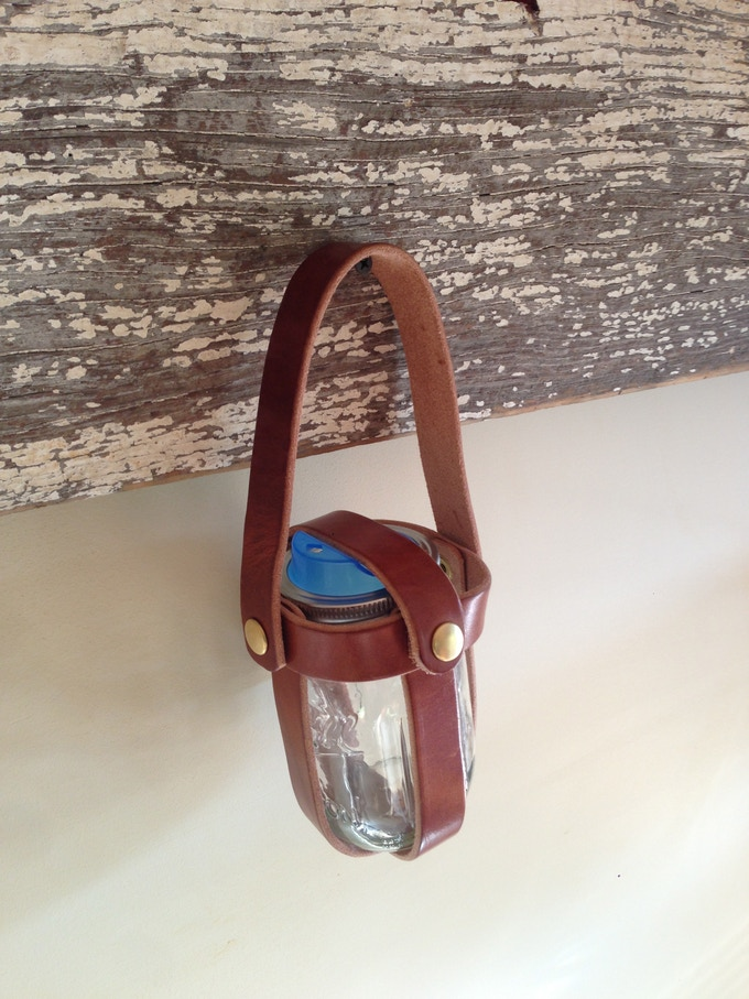 Bota :: available for regular & wide mouth Mason Jars. Comes with a strap and can be attached to your belt.