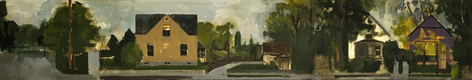 Murray Street (1 of 3), Oil, 12 x 69 inches