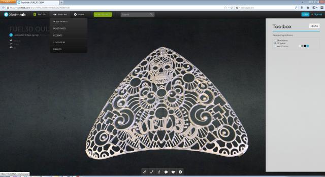 Leading 3D artist Joshua Harker's Fuel3D cover in development
